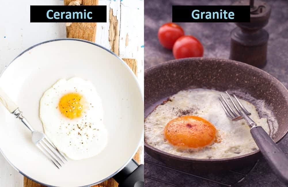 nonstick performance ceramic and granite cookware
