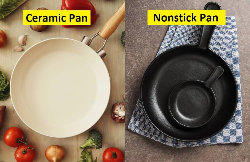 ceramic pans vs nonstick pans