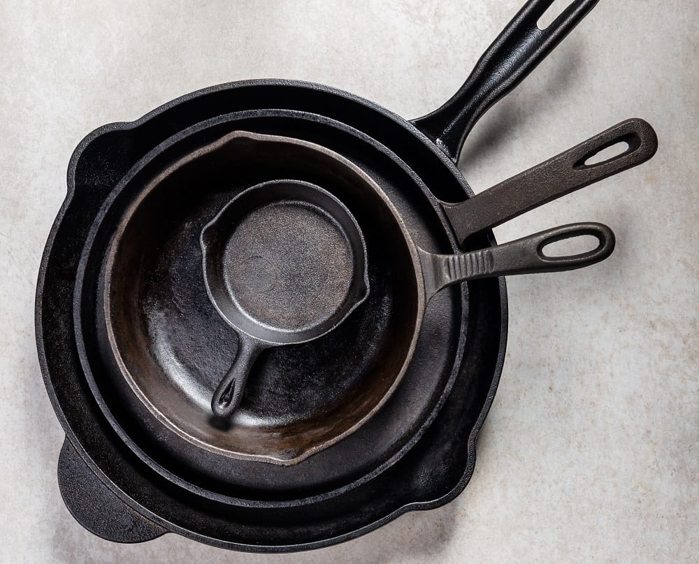 things not to put in dishwasher - Iron Pans